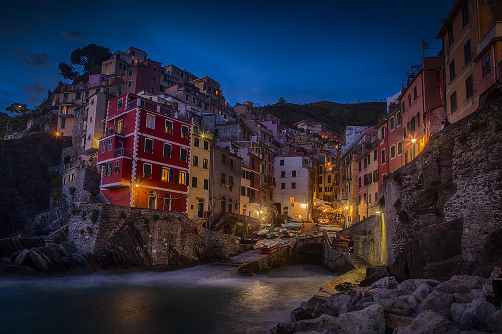 Evening in Riamaggiore, Cinque Terre, Italy. Photo: John Einar Sandvand